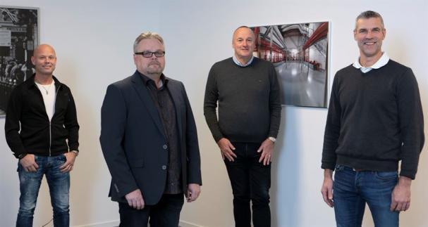 Från vänster: Mats Aldén, Jan Svedling, Tomas Götemo, Profire Sprinkler och Fredrik Torstensson, Bravida.