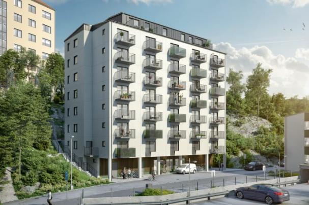 Studentlägenheter i bostadsrättform på Volrat Thamsgatan i Johanneberg.