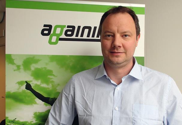 David Frykerås, vd och grundare av Againity i Norrköping är mottagare av Jan Häckners bioenergipris 2019 tillsammans med Elin Ledskog.