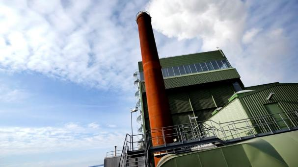 Jämtkrafts kraftvärmeverk i Lugnvik utanför Östersund.