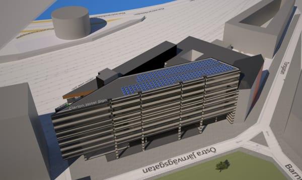 Clarion Hotel Sign kommer installera 107 kW solceller och spara 5 ton koldioxid per år.