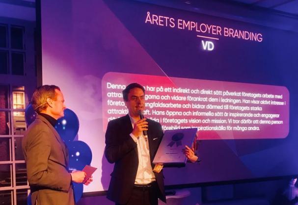 Utmärkelsen Årets vd inom Employer Branding tilldelas E.ON Sveriges vd Marc Hoffmann.