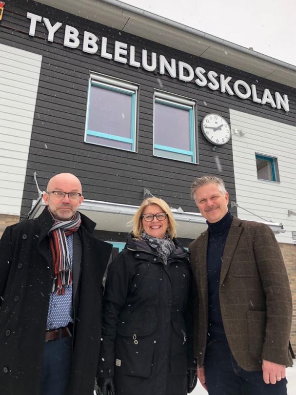 Lennart Karlsson, tf affärschef E.ON Örebro, Mona Karlström, kundansvarig E.ON Örebro, Göran Lunander, VD Futurum.