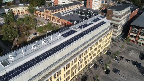 Solceller på Luftverkstaden.