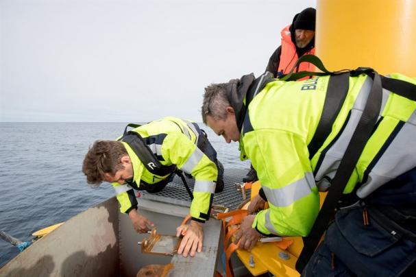 Waves4Power har en testanläggning på fågelön Runde på det norska Vestlandet. Den 2 juni 2017 blev bojen kopplad till Tussa Energis elnät på land.