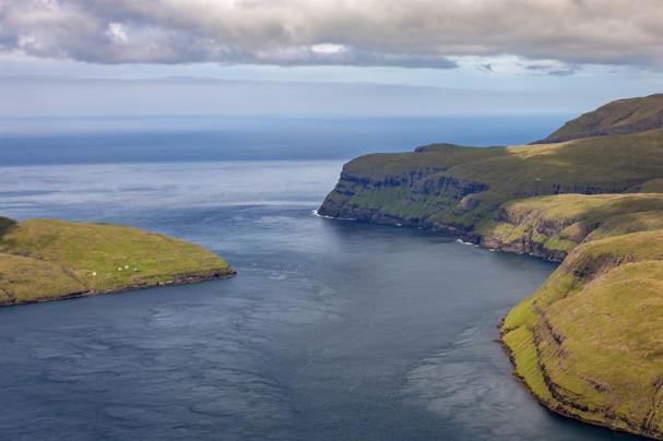 Vestmannasund, i nordvästra delen av Färöarna.