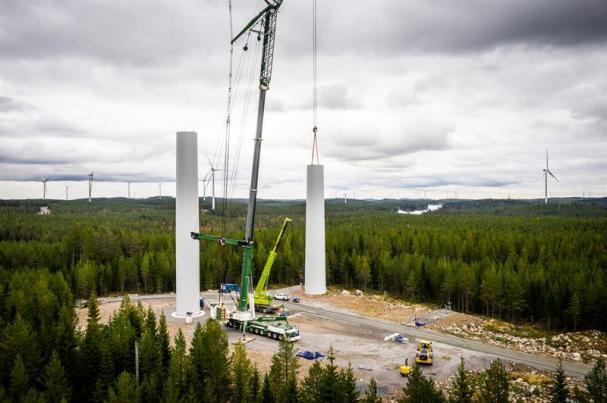 Valhalla omfattar 85 vindkraftverk med en total installerad effekt om 366 MW.