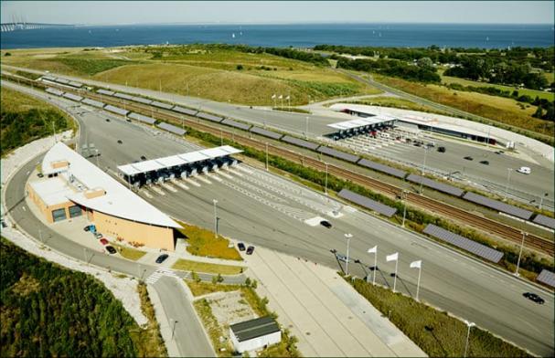 Betalstation vid Öresundsbron