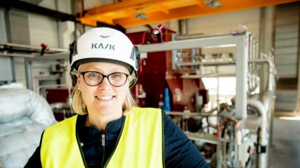 Linda Östberg, chef för avdelningen Energiproduktion på Karlstads Energi.