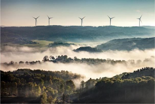 Gunnarby vindkraftpark i Uddevalla kommun: Deutsche Windtechnik tar över service av åtta Siemens SWT 2,3 DD-turbiner.