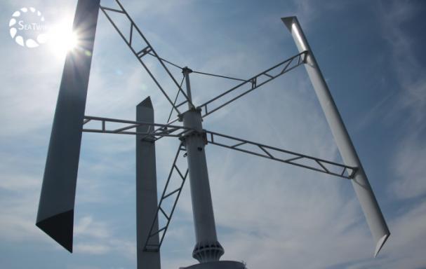 Vertikal vindturbin