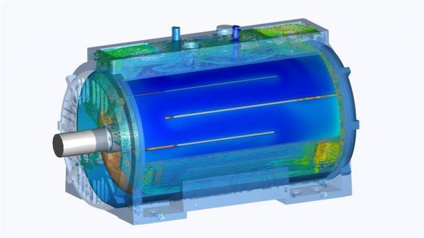 Den nya kylformen för AXW medför en jämnare temperatur i motorn.
