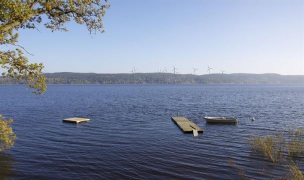 Vy från Arlid, 13 Vindkraftverk ska byggas i Rödene (bilden är ett montage).