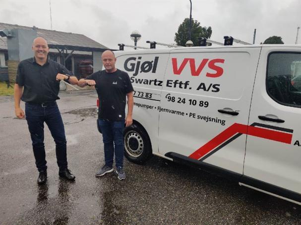 Klaus Villefrance (Bravida) och Claus Vinther (Gjøl VVS/Vesthimmerlands VVS/Nielsen & Brostrøm).