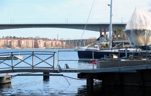 Vy från Stora Essingen.